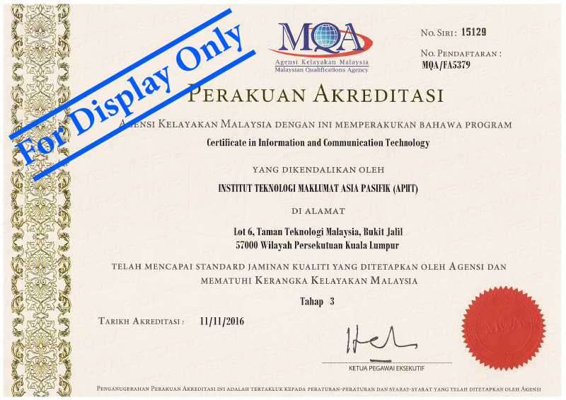 Certificate In Information Communication Technology Cict Asia Pacific University Apu