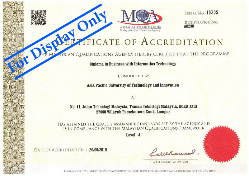 Diploma In Business Information Technology Asia Pacific University Apu