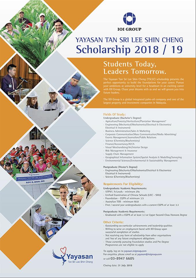 Yayasan Tan Sri Dato' Lee Shin Cheng Scholarships | Asia Pacific